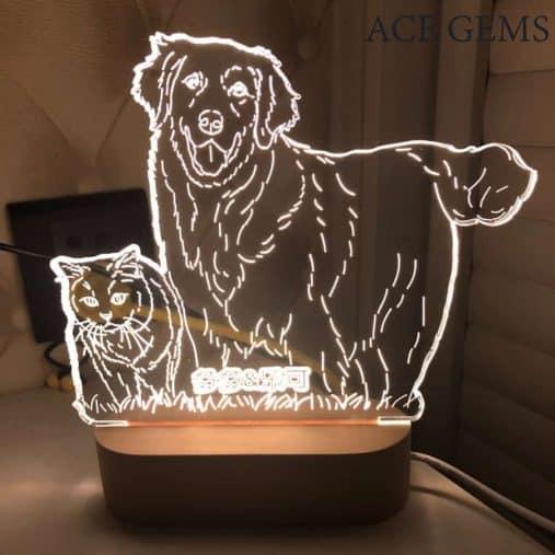 Custom Photo 3D lamp