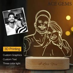 Lampa Custom Photo 3D