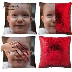 Kaso sa Custom Photo Sequin Pillow Case