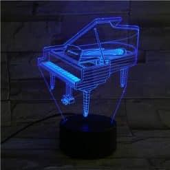 Piano 3D Illusion Led Lamp