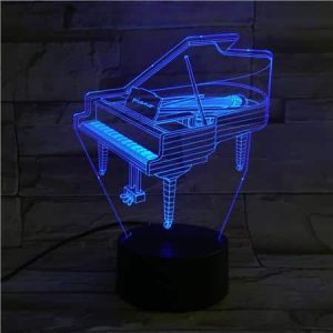 Piano 3D Illusion Led Lampe