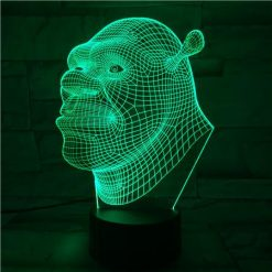 Shrek Face 3D Illusion Led Lamp