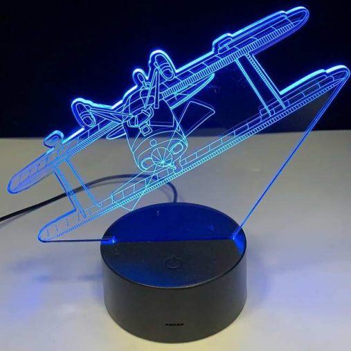 Biplane 3D Illusion Led Lamp