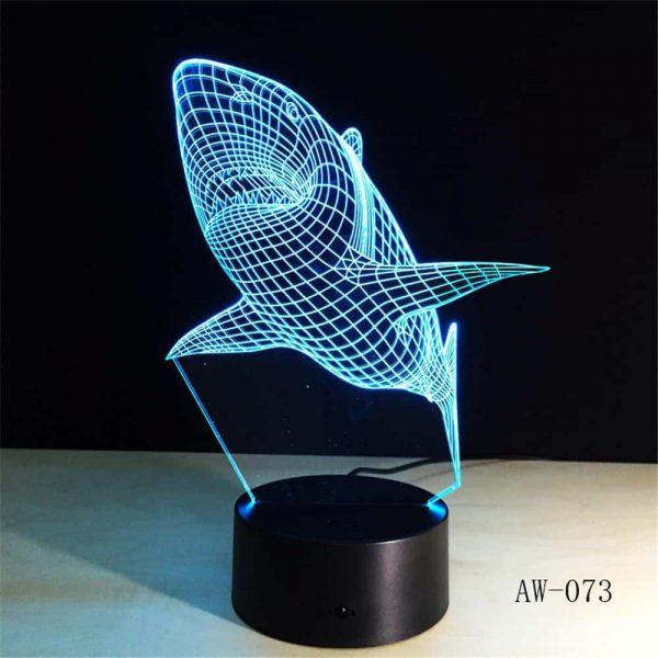 Shark 3D Illusion Led Lamp
