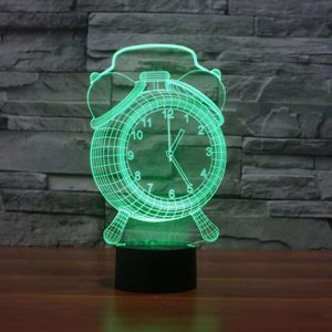 Hologram Clock 3D Illusion Led Lamp