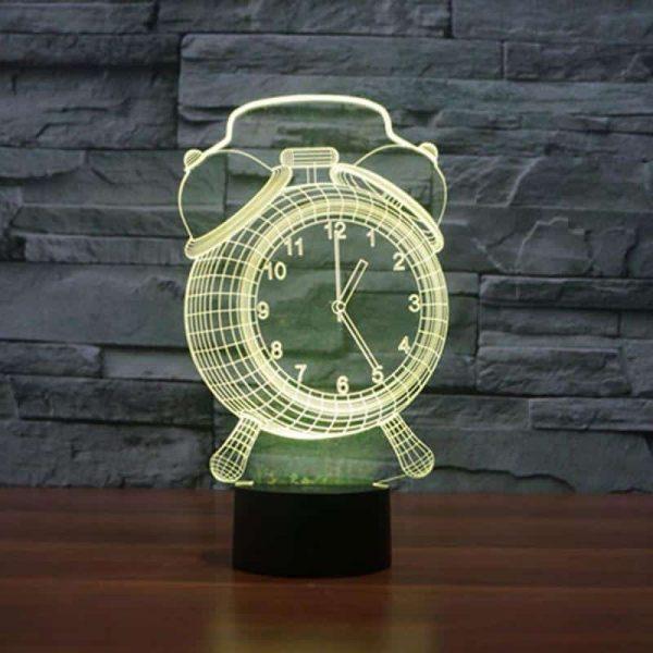 Hologram Clock 3D Illusion Led Lamp