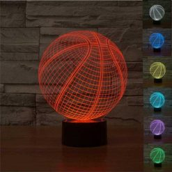Basketball 3D Illusion Led Lamp