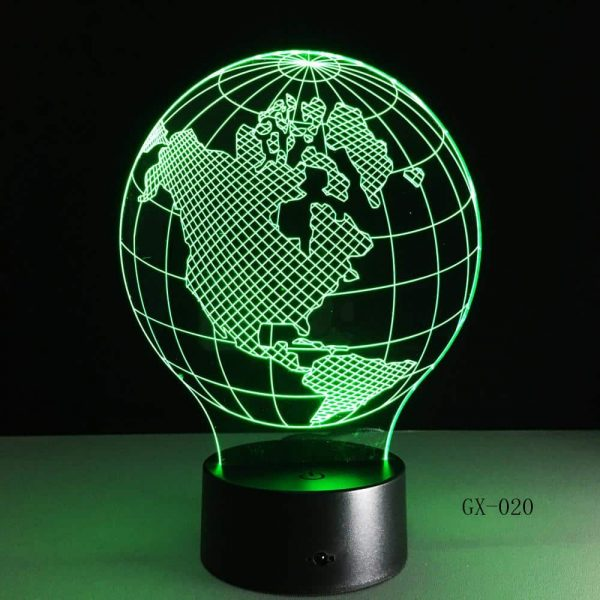 Earth Globe 3D Illusion Led Lamp