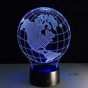 Earth Globe 3D Illusion Led Lamp
