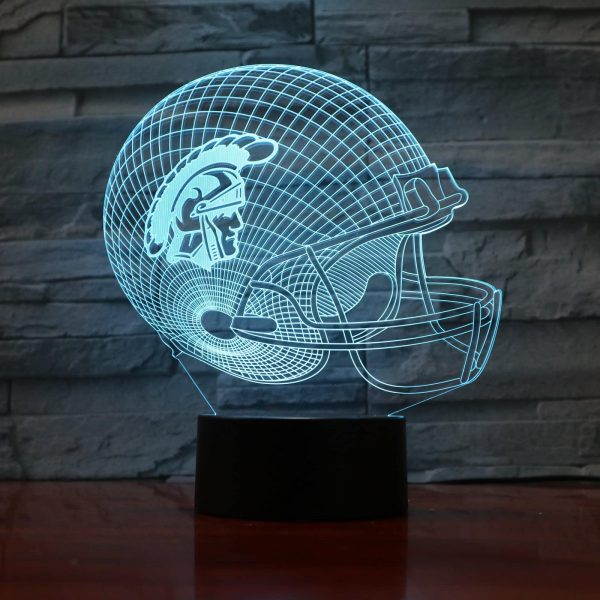 Hologram Helmet Football 3D Illusion Led Lamp