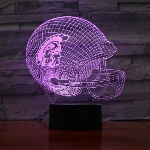 Hologram Helmet Football 3D Illusion Led Lamp