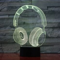 Headphones 3D Illusion Led Lamp