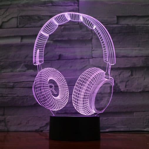 Headphones 3D Illusion Led Lamp