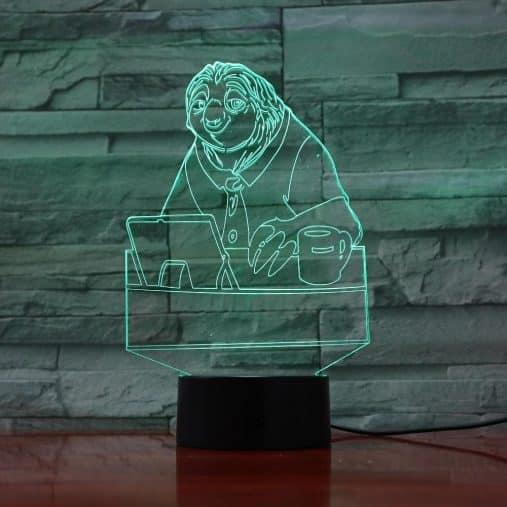 Sloth 3D Illusion Led Lamp