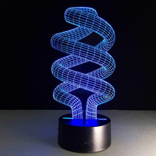 Endless Spiral 3D Illusion Led Lamp
