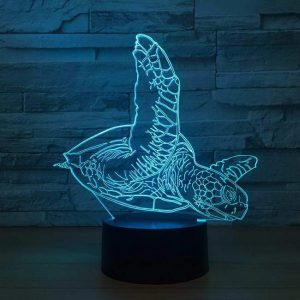 Turtle 3D Illusion Led Lamp