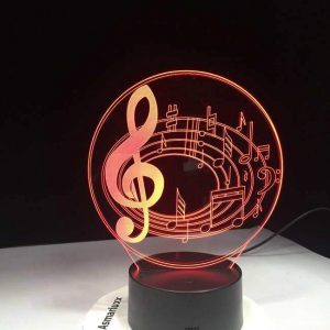 Musiknoten 3D Illusion Led Lampe