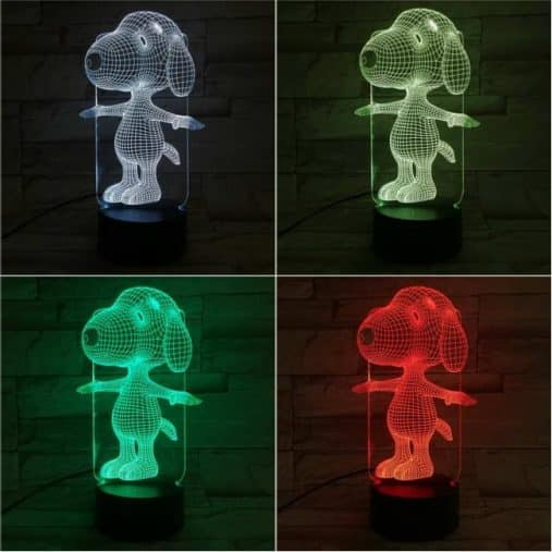 Snoopy 3D Illusion Led Lamp