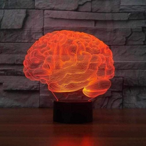 Brain 3D Illusion Led Lamp