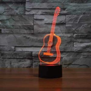 Guitar 3D Illusion Led Lamp