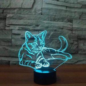 Cat 3D Illusion Led Lamp