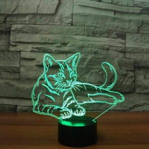 Cat 3D Illusion Led Lamp