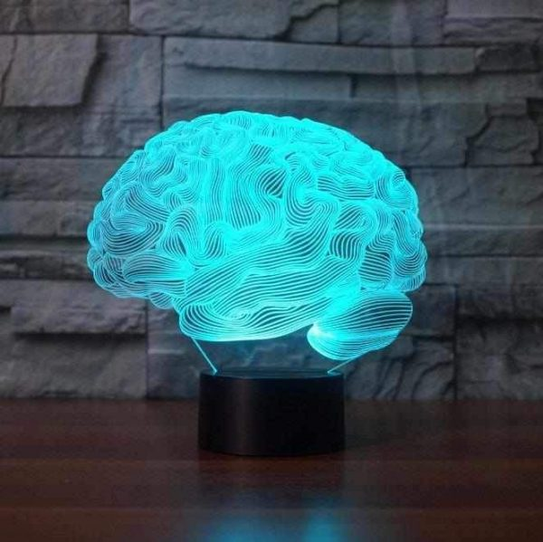 Brain 3D Illusion Led Lamp