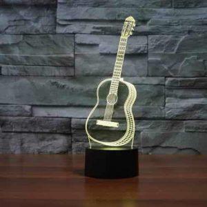 Guitar 3D Illusion Led Lamp