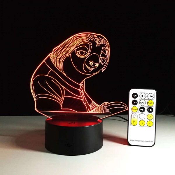 Sloth 3D Illusion Led Lamp