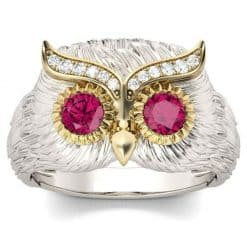 Crystal Owl Rings