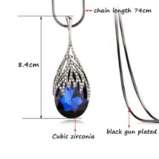 Water drop Pendant Necklace