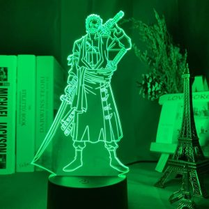 Zoro Roronoa -Pirate Hunter- 3D Illusion Led Lamp (One Piece)