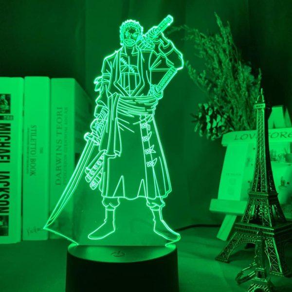 Zoro Roronoa -Pirate Hunter- 3D Illusion Led Lamp (One Piece)