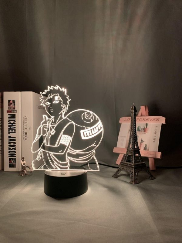 Gaara of the desert 3D Illusion Led Lamp (Naruto)