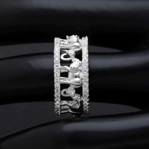 Silver Elephant Rings