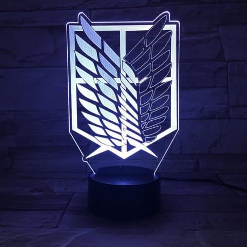 Attack on Titan 3D Illusion Led Lamp (Survey Corps)