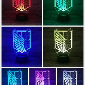 Survey Corps Led Anime Lamp (Attack On Titan)