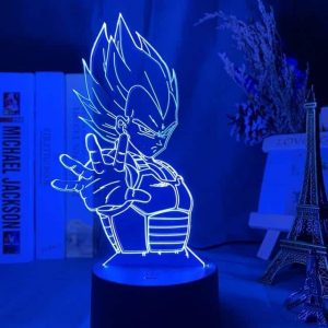 Vegeta 3D Illusion Led Lamp (Dragon Ball)