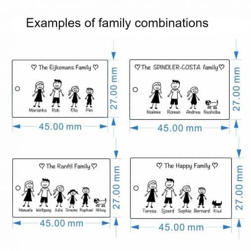 Custom Family keychain