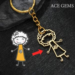 Kids drawing key chain