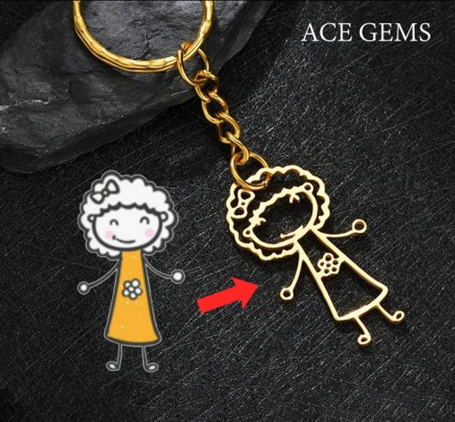 Kids drawing key chain