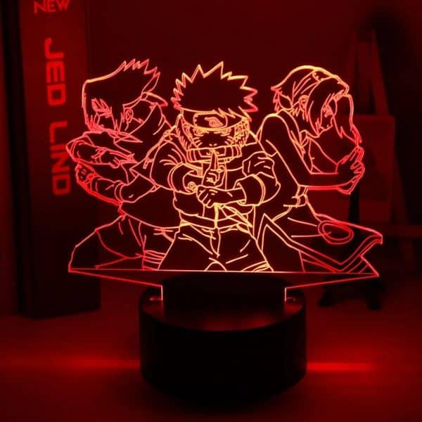 Team 7 3D Illusion Led Lamp (Naruto)