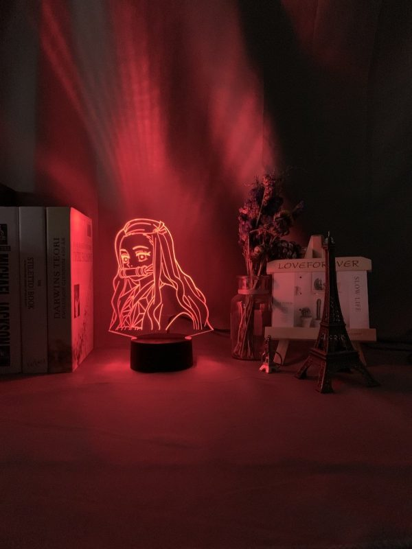 Nezuko Kamado 3D Illusion Led Lamp (Demon Slayer: Kimetsu no Yaiba)