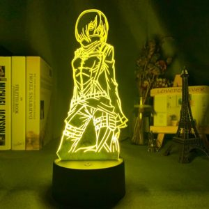 Mikasa Ackerman 3D Illusion Led Lamp (Attack on Titan)