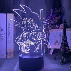 Young Goku 3D Illusion Led Lamp