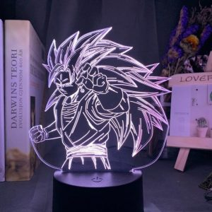 Goku Super Sayian 3D Illusion Led Lamp (Dragon Ball)