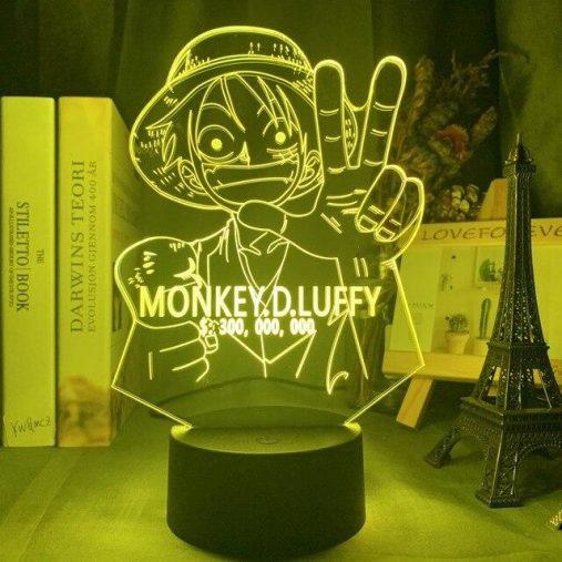 Luffy Bounty 3D Illusion Led Lamp