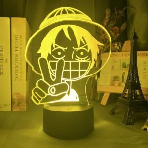 Young Luffy 3D Illusion Led Lamp (One Piece)