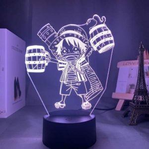Chibi Luffy 3D Illusion Led Lamp (One Piece)