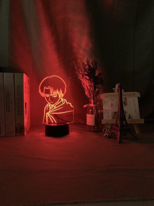 Captain Levi Ackerman 3D Illusion Led Lamp